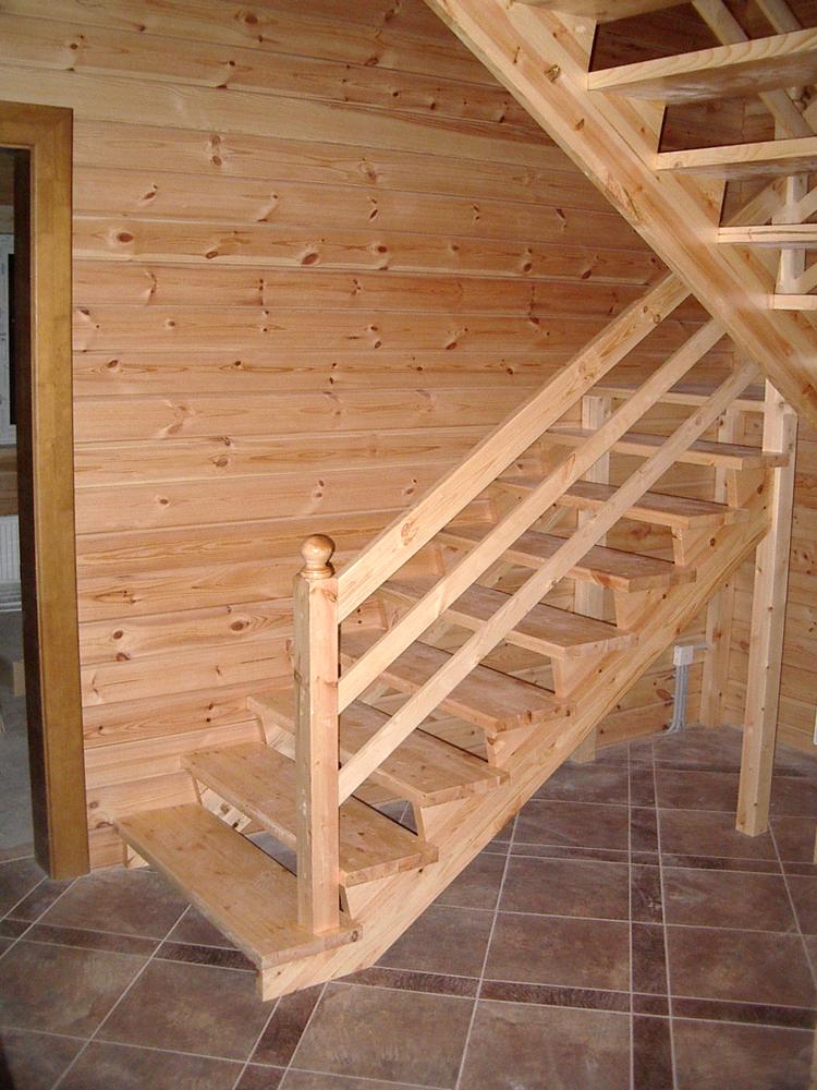 Лестница на 180 градусов с площадкой своими  991
