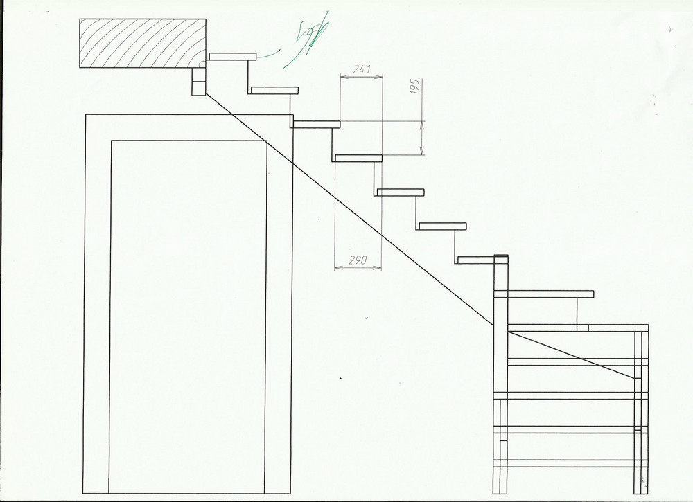 Лестница своими руками с поворотом на 90 861